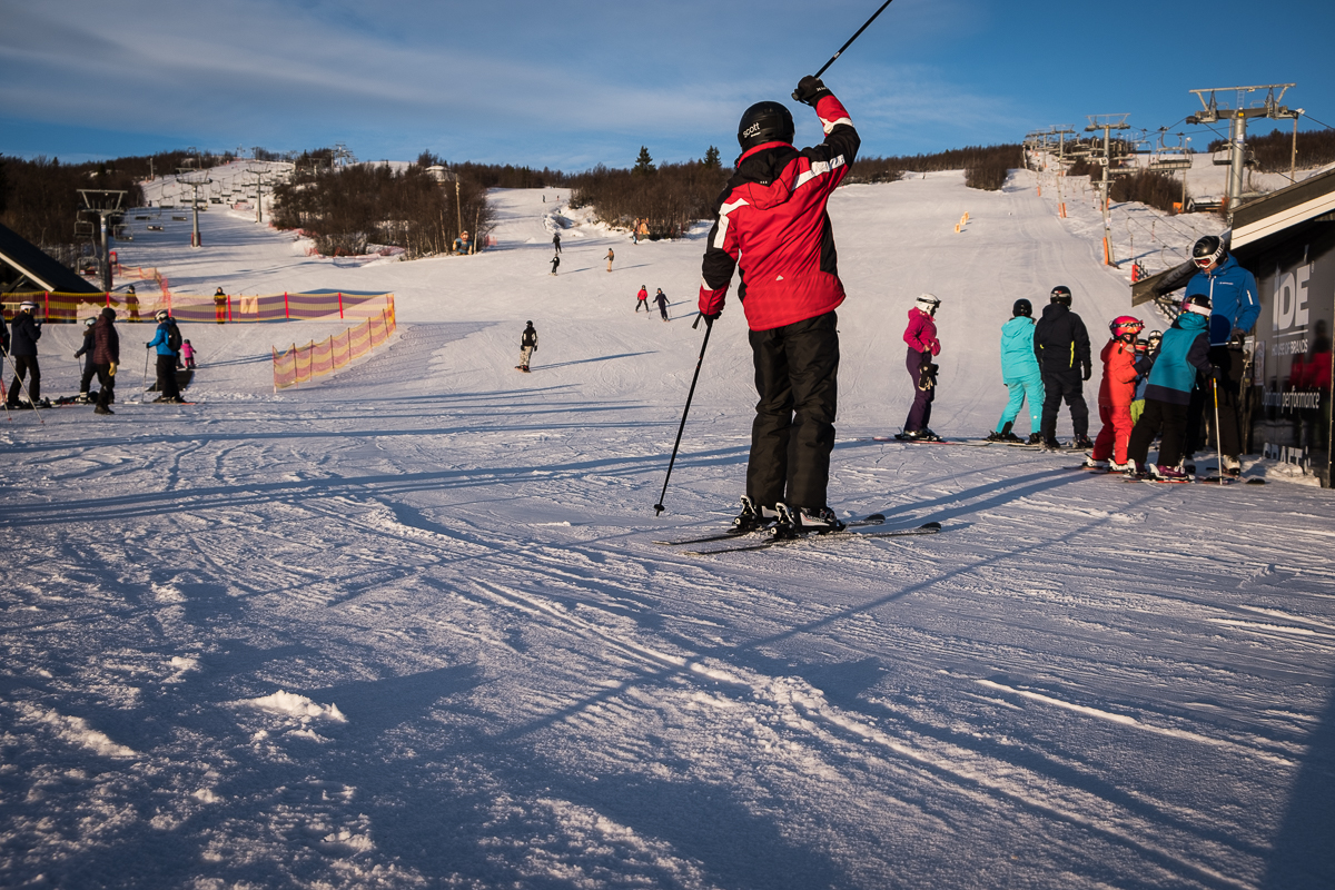 Skiing at Beitostølen, Norway