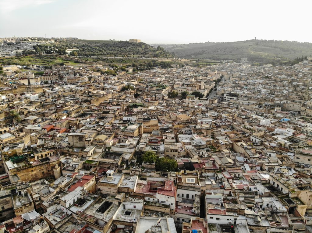 Fez Morocco from air