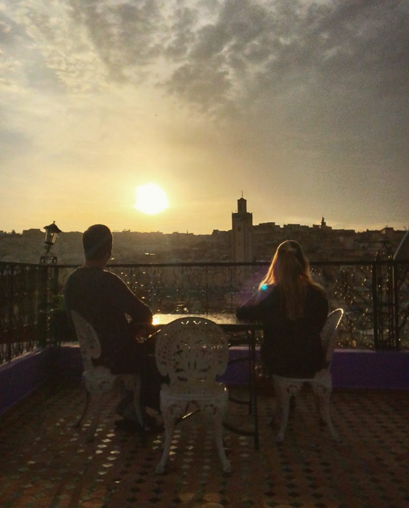 Sunset view over Fez Morocco