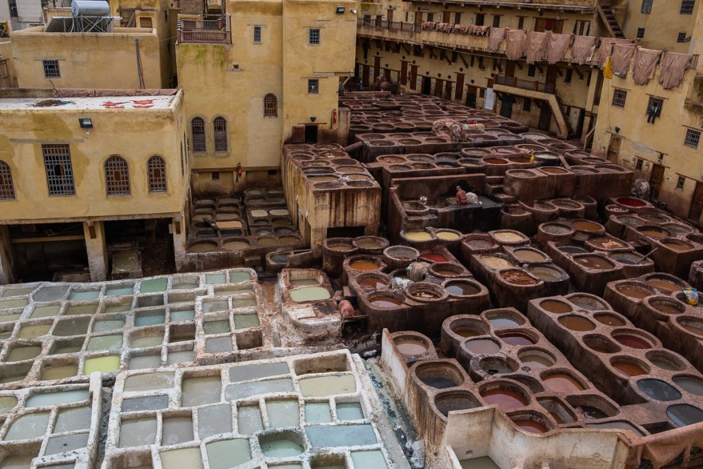 The Chaouwara Tannery in Fez, Morocco