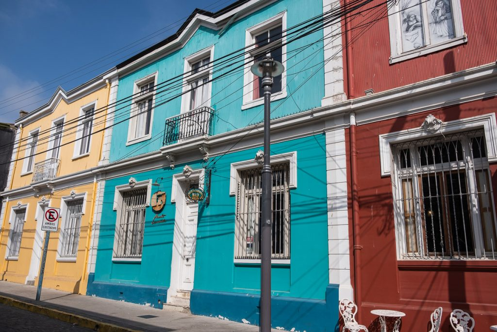 Colourful houses in Valparaíso Chile