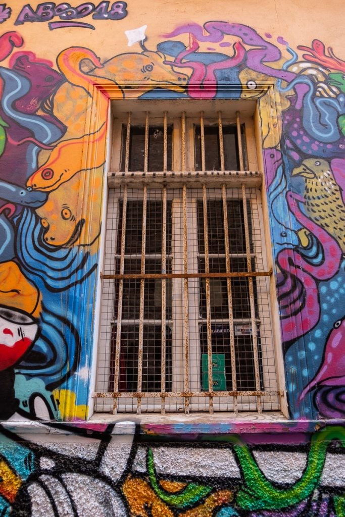 Detail street art Valparaíso Chile