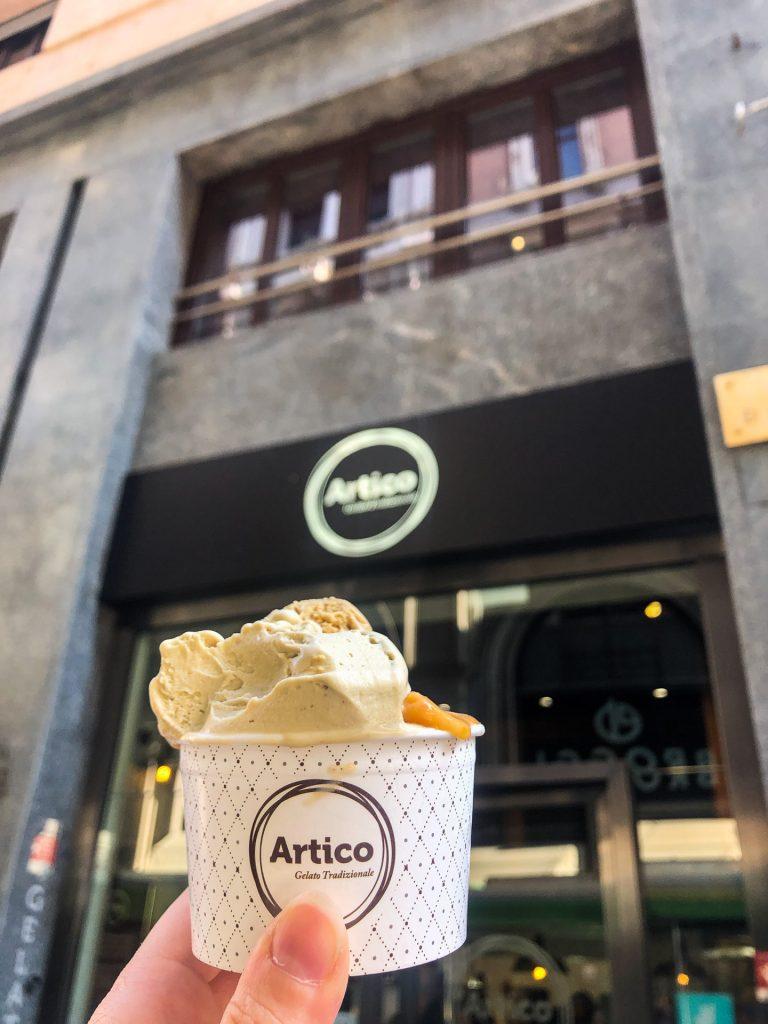 Gelato, Milan, Milano, Italy