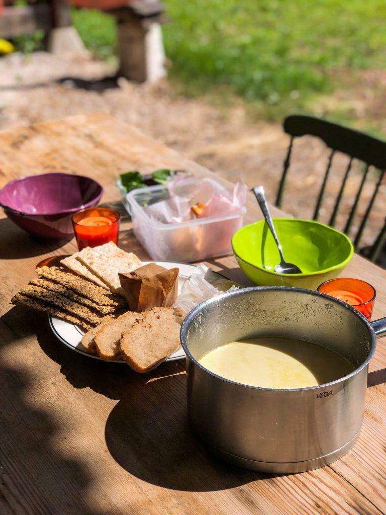 Lunch at Näsets Marcusgård Dalarna Sweden