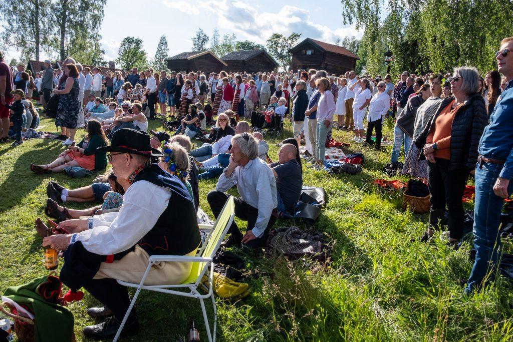 Midsommar i Rättvik, Dalarna, Sverige