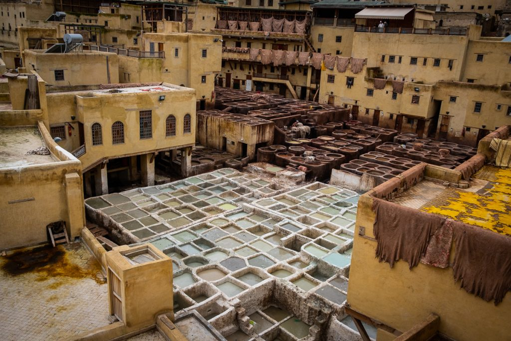 The Chaouwara Tannery in Fez Morocco