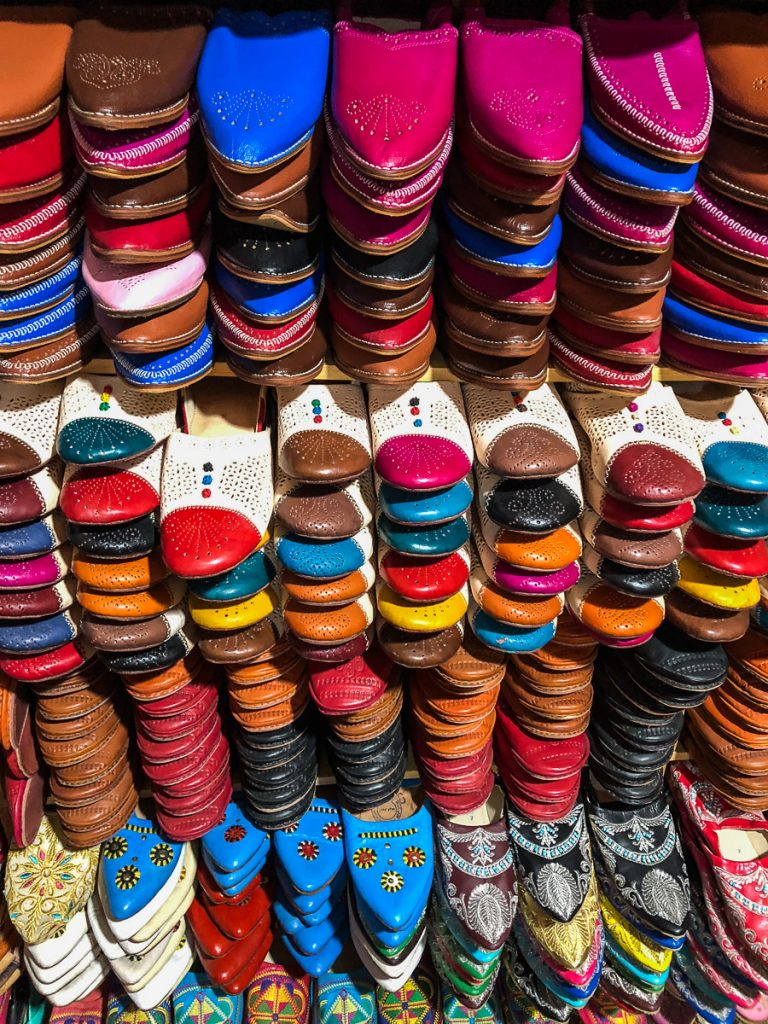 Leather shop in Fez Morocco