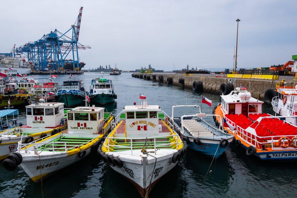 The harbor in Valparaíso Chile