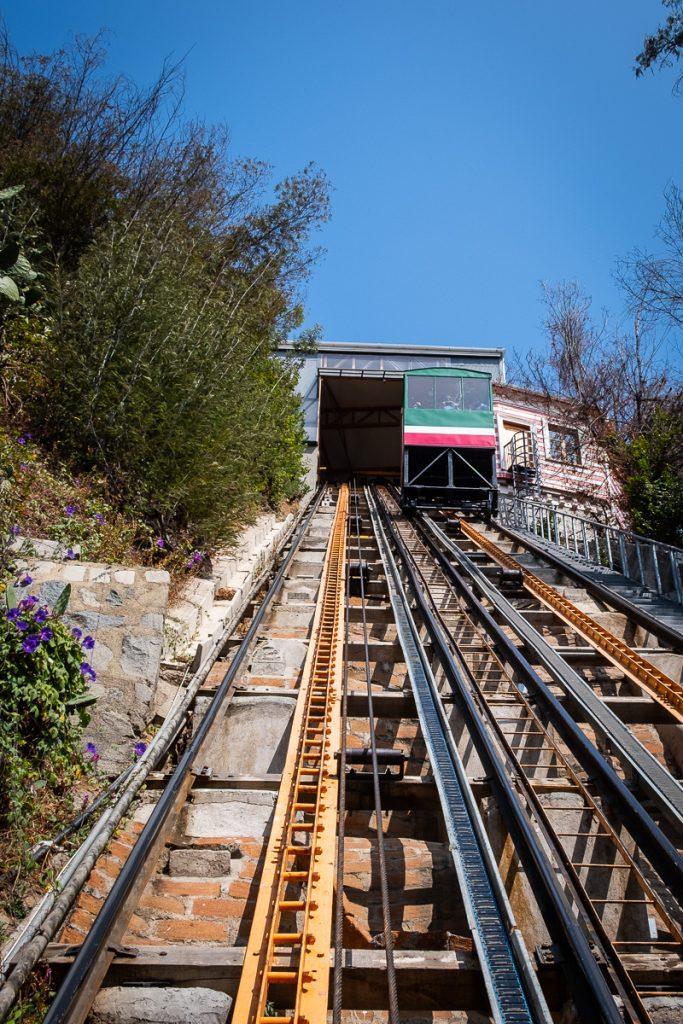 Funicular in Valparaíso Chile