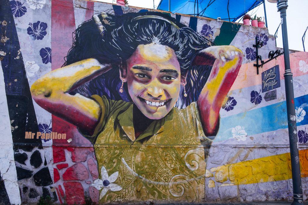 Detail of street art Valparaíso Chile