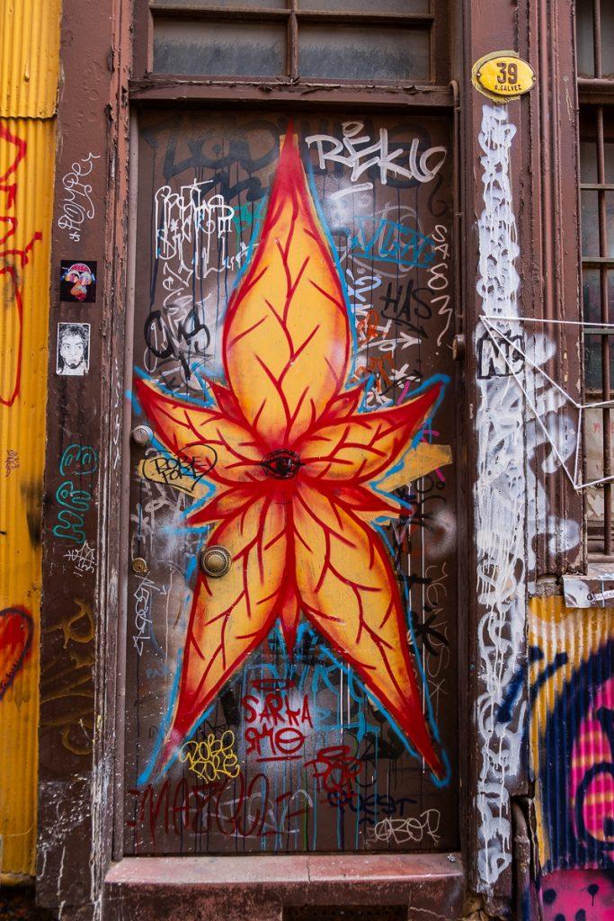 Detail street art Valparaíso Chile