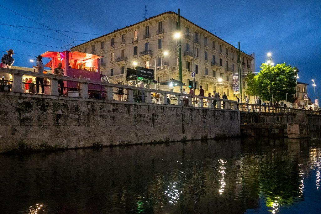 Naviglio by night, Milan, Milano, Italy