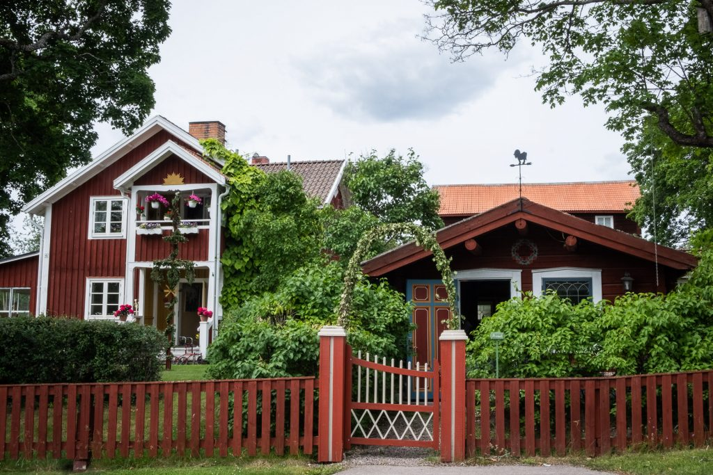 Red houses and gorgeous nature in Dalarna, Sweden