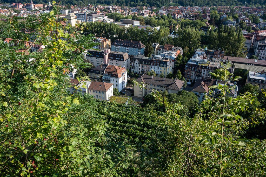 Freiburg im Breisgau , Tyskland Germany, Baden Württemberg, Kastaniegarten, view, houses, pastel