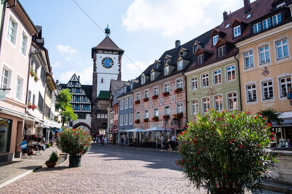 Freiburg im Breisgau , Tyskland Germany, Baden Württemberg, pastel, houses, view, street