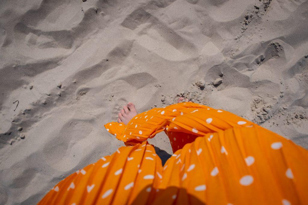 Skagen Jutland Jylland Denmark Grenen Feet in the sand