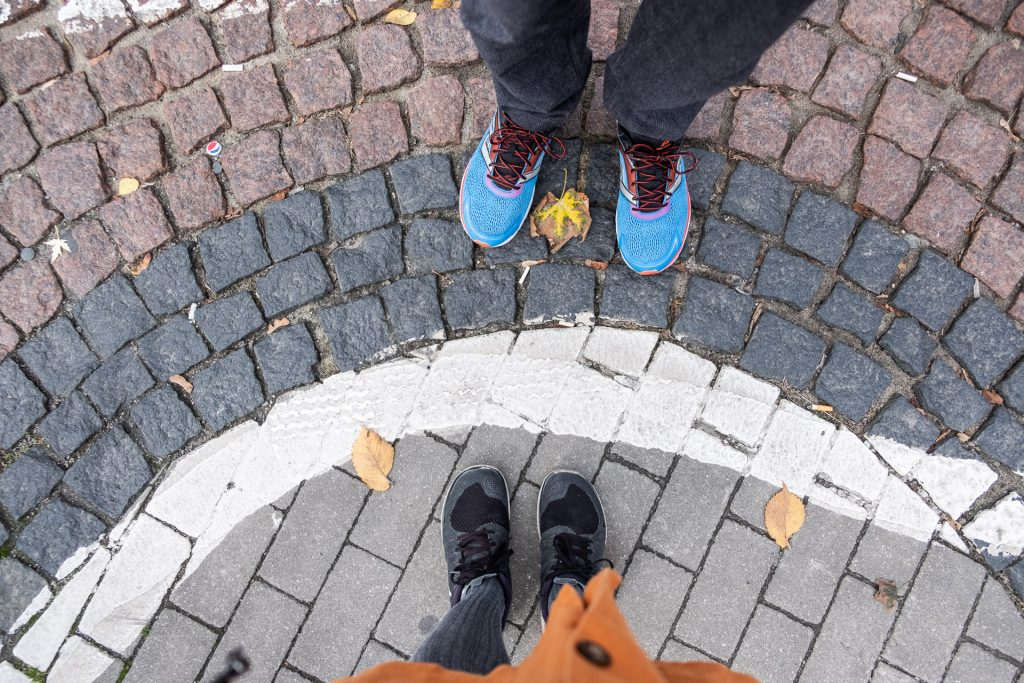 Krakow, Poland, street, feet, shoes, blue, orange