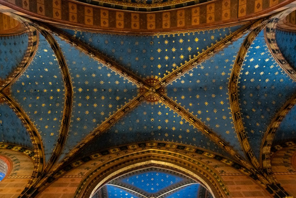 Krakow, Poland, street, cathedral, detail, interior,